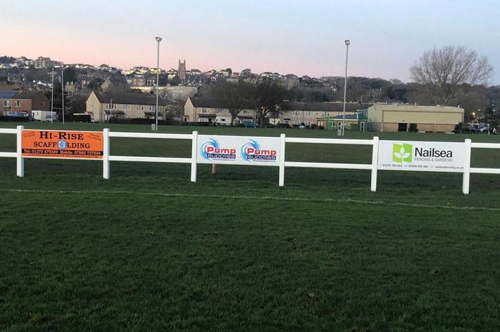 Pump Supplies Sponsoring Clevedon Utd FC